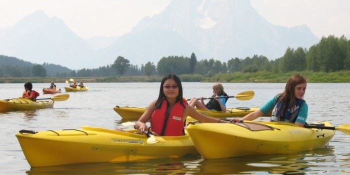 Teens Kayaking