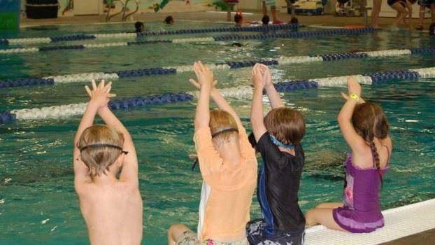 Kids Taking Swim Lessons